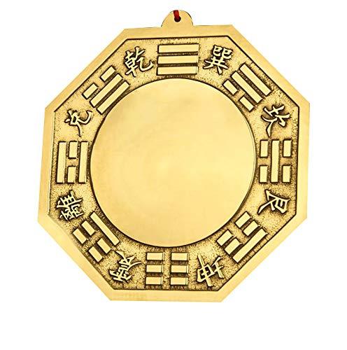 Laogg Bagua Spiegel Feng Shui Kupfer Konkav Spiegel Für Schutz Gegen Passive Negative Energie Bringen Viel Glück