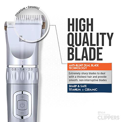 Low Noise Rechargeable Cordless Dog Grooming Clippers