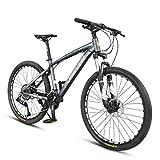 XZBYX Mountain Bike Homme Vitesse Variable Hors Route Ultra-Léger 36 Vitesse Adulte Vélo De Course Double Freins À Disque, Diamètre De La Jante 26 Pouces (170 * 95 * 70Cm)