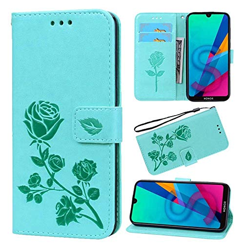 N / C for Sony Xperia XZ Premium Case, Flip Case Cover for Sony Xperia XZ Premium Rose Embossed Pattern Premium PU Leather Wallet Stand Card Slots