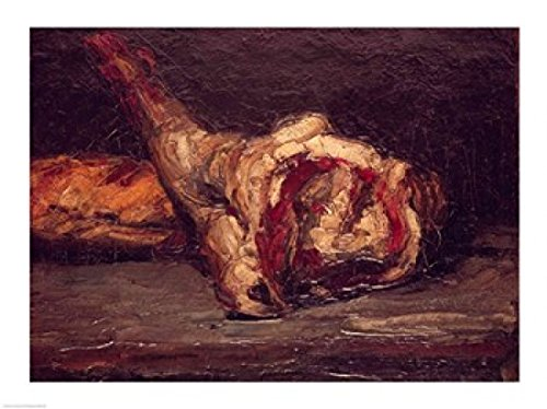 The Poster Corp Paul Cezanne – Stillleben eines Hammelkeule und Brot 1865 Kunstdruck (60,96 x...