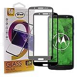 Guran [2 Paquete Protector de Pantalla para Motorola Moto G6 Plus Smartphone Cobertura Completa Protección 9H Dureza Alta Definicion Vidrio Templado Película - Negro