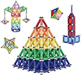 WISHTIME Magnetic Building Sticks Toys - 230 PCS Magnetic Construction Set Toys and Educational Stacking Puzzle Toys For Adults and Toddlers