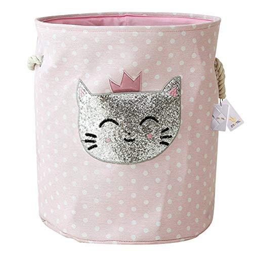 Znvmi Wäschekörbe Kinder Spielzeug Organizer Faltbare Groß Lagerung Aufbewahrungskorb Baby Wäschesammler Wäschesack - Katze