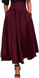 f6ff8035b816cb Amazon.fr : Jupe Longue Plissée - Rouge