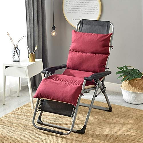 Bidet Sun Lounger Cushion Replacement Garden Suede Seat Cushion Padded Rocking Recliner Chair Pads with Removable for Travel Holiday Garden Indoor Outdoor,no chairs (Color : Red S)