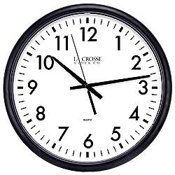 LaCrosse 13.5 Commercial Wall Clock, Black