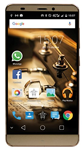 Mediacom PhonePad S552 Smartphone da 16 GB, Dual-SIM, Oro