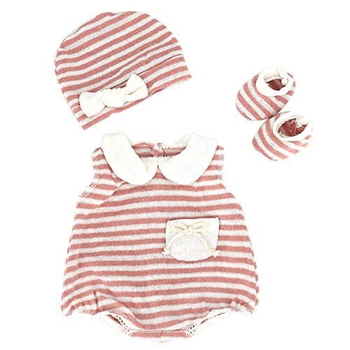 ZWOOS Puppenkleidung für New Born Baby Doll, niedlich Baumwolle Outfit mit Hut und Socken für 18