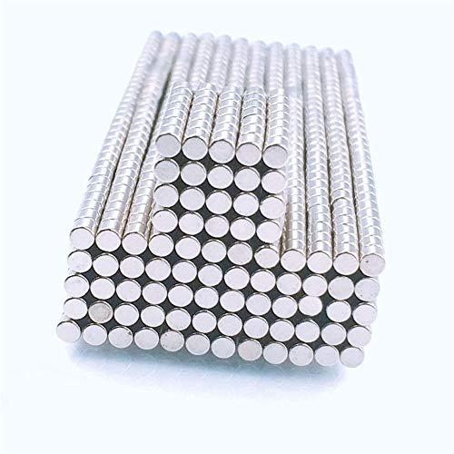 Jasmin FS Industriemagneten, 100pcs 2x2mm Mini Super Strong Leistungsstarke Neodym-Magnet rund seltene Erde-Magneten