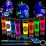 Best Glow In The Dark Body Paints - Blue Squid Blacklight UV Face & Body Paint Review