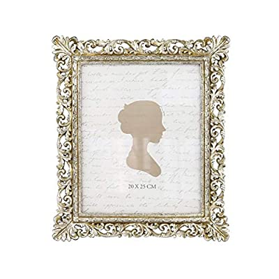 Sunlit Vintage Picture Frame 8x10 Inch, Luxury Antique Photo Frames with Glass Front, Photo Display, Tabletop Wall Hanging, Gift Ideas, Antique Silver