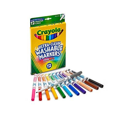 Crayola Filzstifte mit feiner Linie, waschbar, 12 Stück