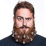 Beardo - Lot de 10 décorations de barbe, Plastique, Silver