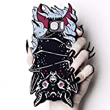 Rogue + Wolf Cute S6 S7 Galaxy Protective Phone Case Silicone Shock-Absorption Scratch Resistant Protection Cover for Girls Kawaii S6 Edge Cases - Vamp Bat