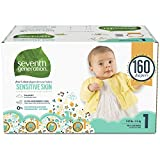 Seventh Generation Baby Diapers for Sensitive Skin, Animal Prints,...