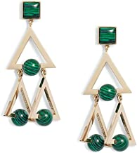 Tory Burch Women's Geo Statement Earrings Chandelier Green