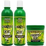 BOE Crece Pelo - Lote de productos para el crecimiento del cabello, mascarilla de 450 g, champú de 370 ml y acondicionador de 350 g