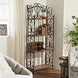 Deco 79 69872 Metal Wood Baker Rack, 27 by 68-Inch,Brown