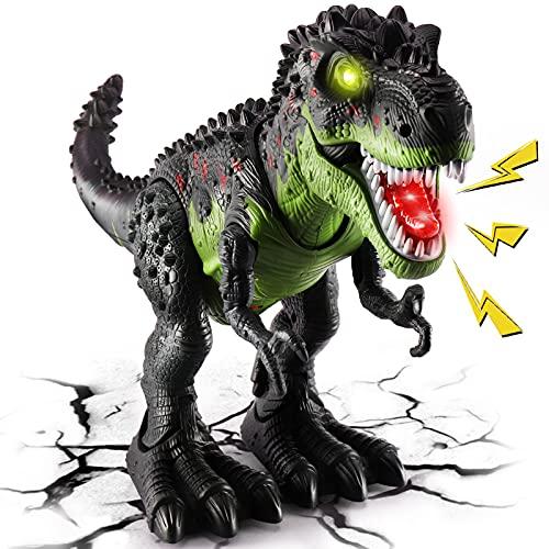 TOEY PLAY T-Rex Dinosauro Giocattolo Gigante per Bambini, 47cm Dinosauri Figure con Ruggiti e Luci, Cammina, Educativi Regalo per Bambini 3+ Anni