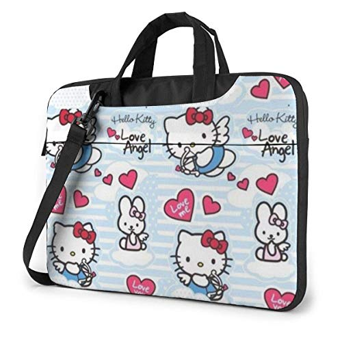 Angel Hello Kitty Laptop Bag Busin Briefcase for Men Women, Shoulder Menger Laptop Sleeve Case Carrying Bag- 15.6 Inch