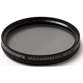CPL 58mm Circular Polarizer Multicoated Glass Filter for Canon VIXIA HF G10 Microfiber Cleaning Cloth
