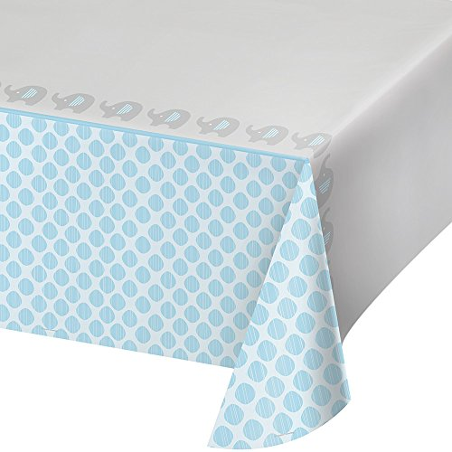 Creative Converting 316939 All Over Print Plastic Tablecover, 54 x 102, Little Peanut, Boy