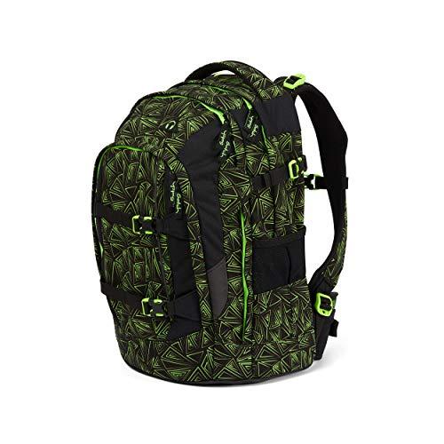Satch pack Schulrucksack - ergonomisch, 30 Liter, Organisationstalent - Green Bermuda - Black