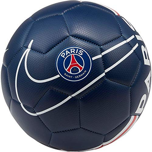 Nike PSG Prestige Soccer Ball, Pallone da Calcio Unisex Adulto, Midnight Navy/University Red/White, 5