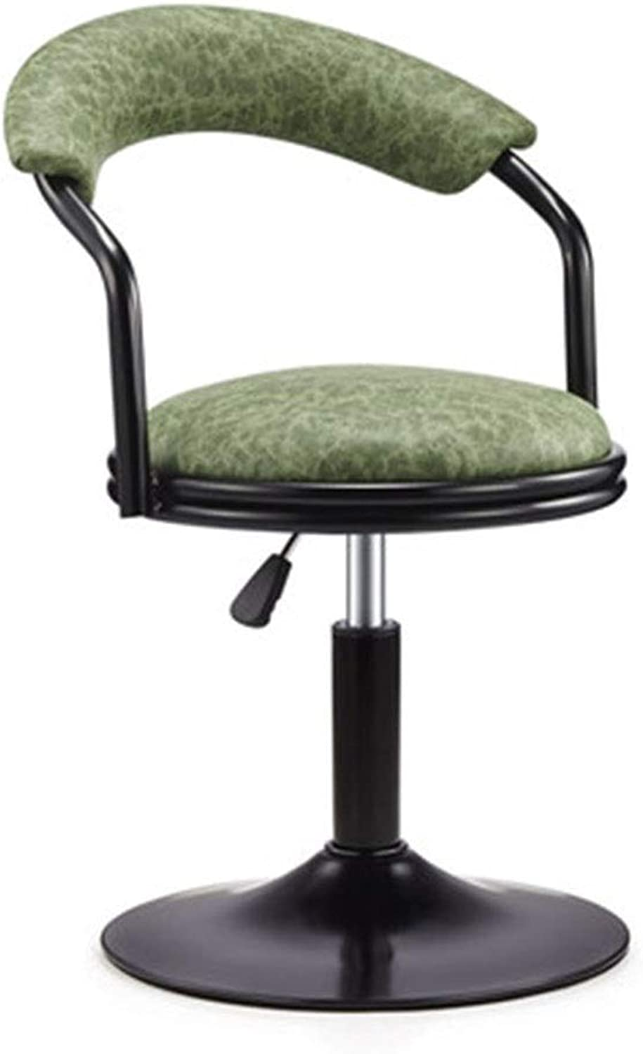 Bar Chair redate Chair Lift High Stool Modern Simple Back Home Reception Chair 4 colors 1 Size (color   A)