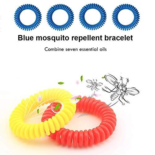 ANSUG 4 Paar UV-Armschutz für den Außenbereich, Atmungsaktiver Armwärmer, Sonnenschutzmanschette mit Mückenschutz-Armband – Unisex - 6