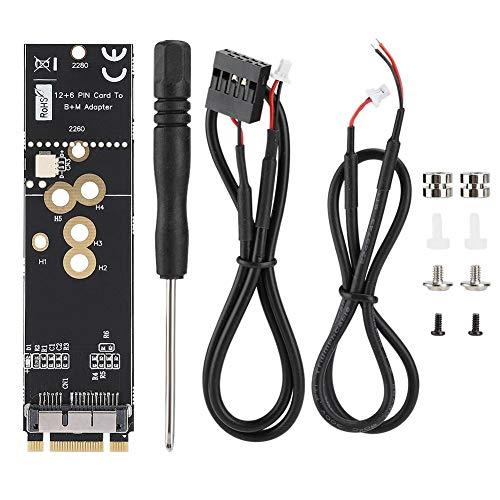 ASHATA-Adapterkarte, BCM94360CD/43602CS Drahtlose Netzwerkkarte zu M.2 NVME SSD-Adapter für Desktop-Computer, BCM94360CD/43602CS Drahtlose Netzwerkkarte zu M.2 Schlüssel M Adapter