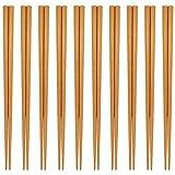 日本製 食洗器対応 若狭塗箸 天然木箸 10膳セット 22.5cm ブラウン (ナチュラル)