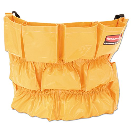 Rubbermaid Commercial 264200YW Brute Caddy Bag 12 Pockets Yellow