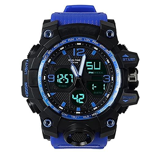 WTYU Hombre Relojes Relojes De Pulsera De Cronógrafo Militar Impermeable Al Aire Libre Deportivo, con Fecha De Reloj Luminoso Multifunción De Fecha, Reloj Deportivo Digit C
