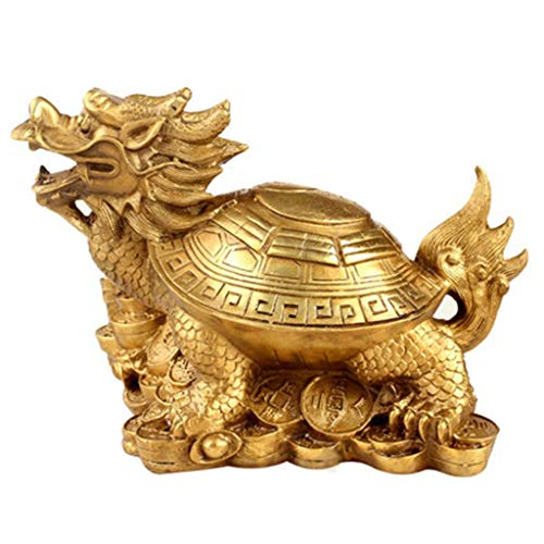 Decoration TV Cabinet Decoration Home Decoration Chinese Dragon Ornaments Design (Color : Gold, Size : 251518CM/957inch)