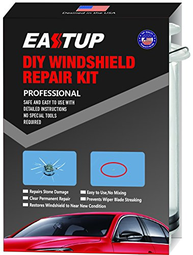 EASTUP Windshield Repair Kit Fix Chipped Windscreen Glass for 1-2 Chips, Repair...