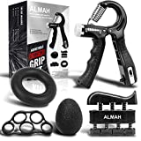 ALMAH Grip Strength Trainer kit(5 Pack), Forearm Workout Trainer Adjustable Hand Grip...