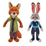 dingtian Plüschtier 2 Teile/los 30 cm Judy Hopps & Fox Nick Wilde Plüsch Spielzeug Puppe Weiche...