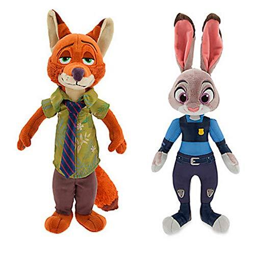 dingtian Plüschtier 2 Teile/los 30 cm Judy Hopps & Fox Nick Wilde Plüsch Spielzeug Puppe Weiche Kuscheltiere Spielzeug für Kinder Kinder Geschenk
