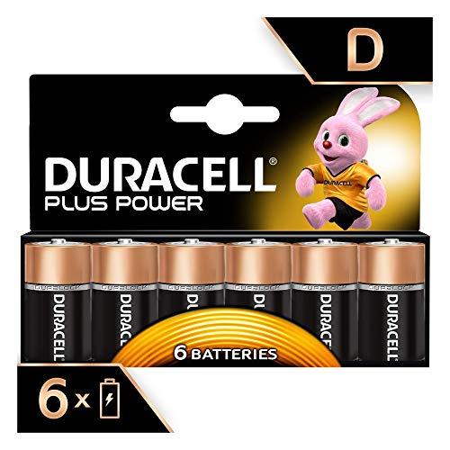 Duracell Plus Power Typ D Alkaline Batterien, 6er Pack