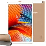 Tablet 10 Pollici YOTOPT, 64 GB Espandibili, 4 GB RAM Tablet PC 4G LTE Android 10.0 Certificato da Google GMS Tablet Pc con 3 Slot (Dual SIM + SD), GPS WIFI (Oro)