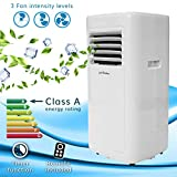 Jack Stonehouse Conditioning Unit Portable Air Conditioner, 5000BTU, Mobile Cooling, Dehumidifying, for Homes/Offices