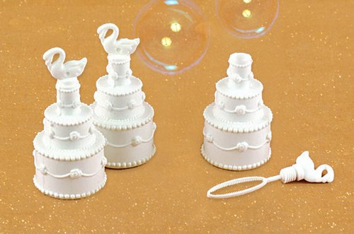 24 Wedding - Wedding Bubbles Bubble Cake with Swan