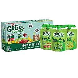 GoGo squeeZ Applesauce, Variety Pack (Apple/Banana/Strawberry), Gluten Free, Vegan Friendly,3.2 Ounc