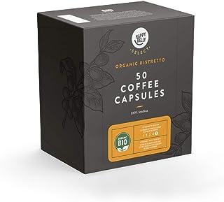 Marca Amazon - Happy Belly Select Cápsulas Compatibles con Nespresso - 100 Cápsulas (2 Paquetes x50) - Ristretto Ecológico