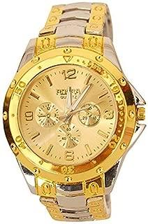 Capture Fashion™ Analogue Gold Dial Men's Watch-Rosra Golden
