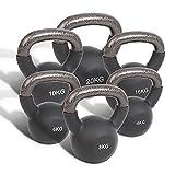 physioroom kettlebell pesante (4kg - 20kg) impugnatura facile - attrezzatura da allenamento e fitness da palestra domestica ideale per allenamento di forza, costruzione e tonificazione muscolare