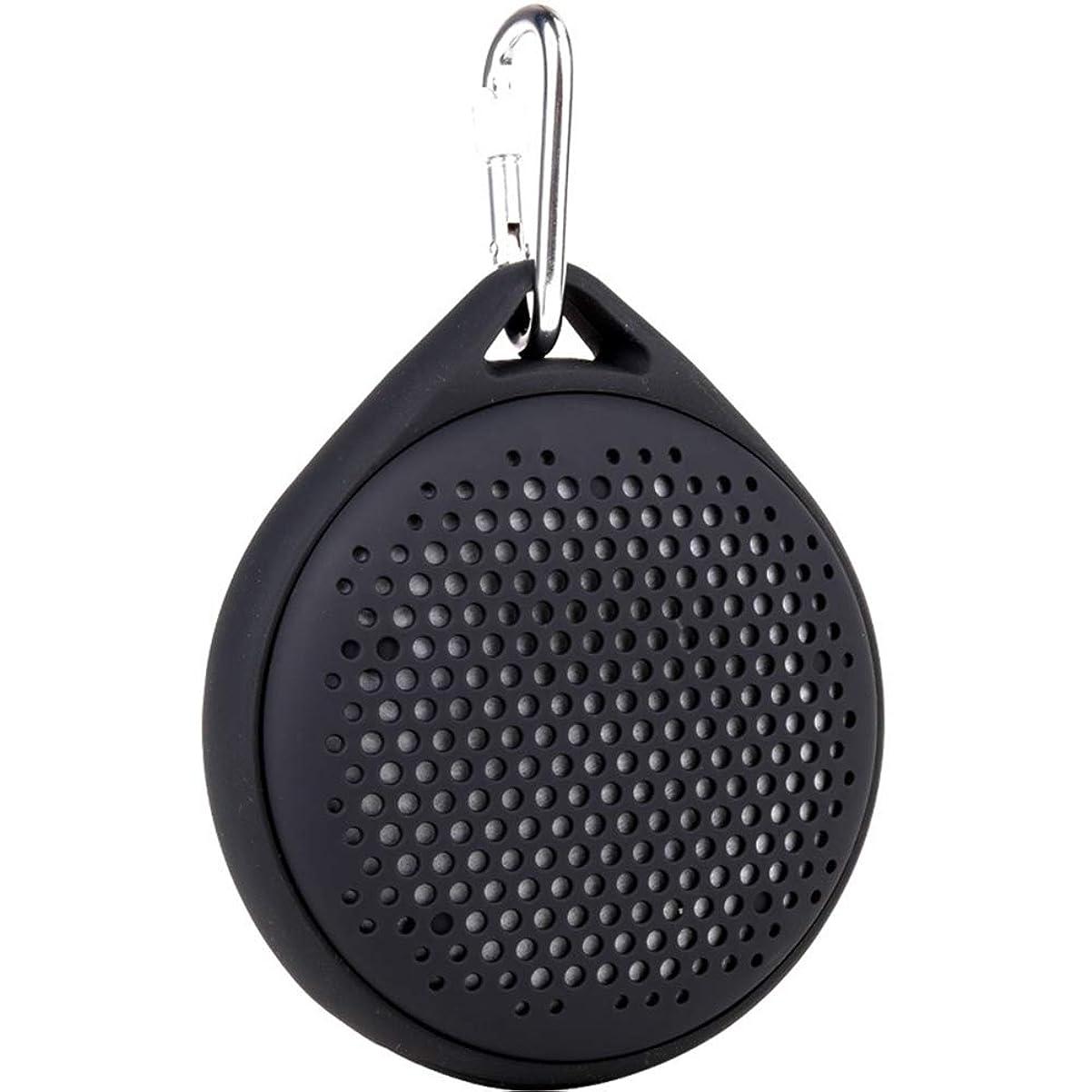 標高パントリー晩ごはんFUNXS ポータブルBluetoothスピーカー - IP67防水Bluetoothスピーカー、強化されたベースと内蔵スピーカー、内蔵マイク、ミニBluetoothスピーカー (色 : Black)