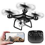 QYLT GPS FPV RC Drone, Caméra Vidéo en Direct 1080P HD, Caméra WiFi Grand-Angle Réglable Quadcopter, Maintien de l'altitude, Intelligente Batterie